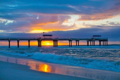 A Gulf Shores Pier at Sunrise