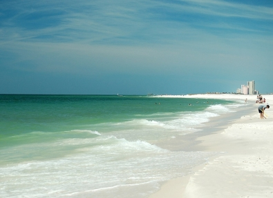 White sand beaches at Gulf State Park