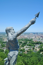 Birmingham's Statue of Vulcan atop Red Mountain is the largest cast iron statue in the world.